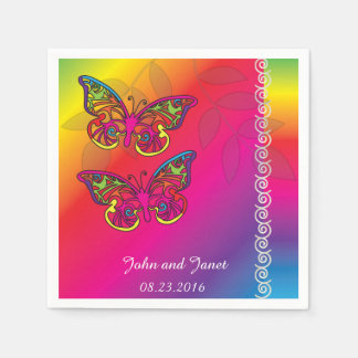 Psychedelic Butterfly Wedding Designs -Napkins Napkin