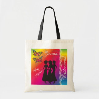Psychedelic Butterfly Wedding Designs Tote Bag