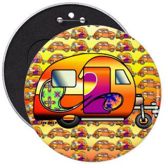 Psychedelic Caravan Pinback Button