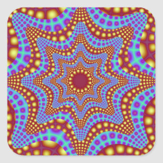 Psychedelic Carousel Square Sticker