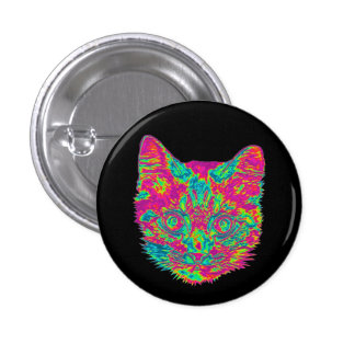Psychedelic Cat Button (Small)