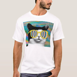 PSYCHEDELIC CAT WITH SUNGLASSES T-Shirt