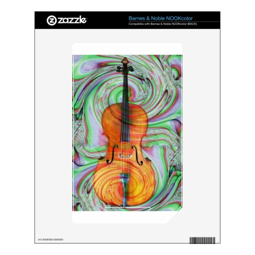 Psychedelic Cello Decal For NOOK Color