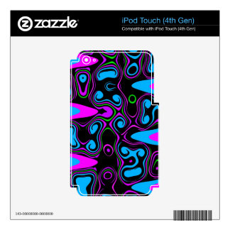 psychedelic cells purple blue.jpg skin for iPod touch 4G