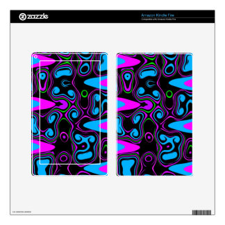psychedelic cells purple blue.jpg skin for kindle fire