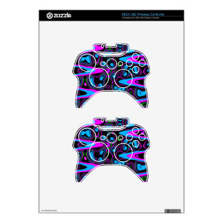 psychedelic cells purple blue.jpg xbox 360 controller skins
