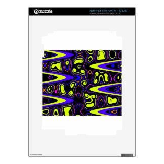 psychedelic cells yellow blue iPad 3 decal