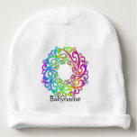 Psychedelic Celtic Love Knot Mandala Personalized Baby Beanie