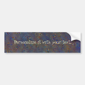 Psychedelic Chaos Abstract Bumper Sticker