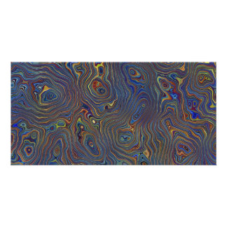 Psychedelic Chaos Abstract Photo Card Template