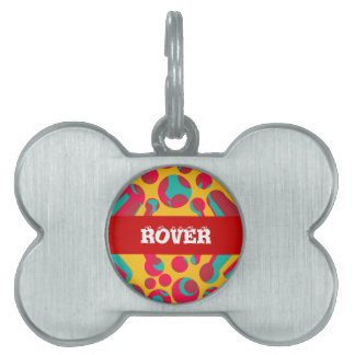 Psychedelic cheese pet ID tag