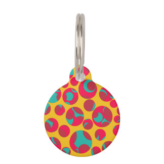 Psychedelic cheese pet tag