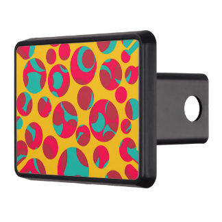 Psychedelic cheese trailer hitch cover