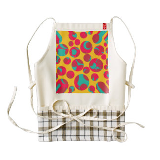 Psychedelic cheese zazzle HEART apron