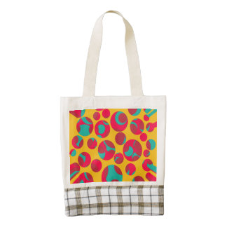 Psychedelic cheese zazzle HEART tote bag