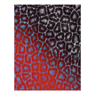 Psychedelic Cheetah Abstract Pattern Letterhead
