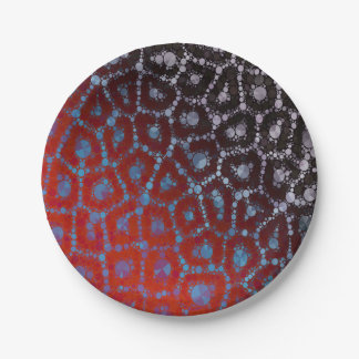 Psychedelic Cheetah Abstract Pattern Paper Plate