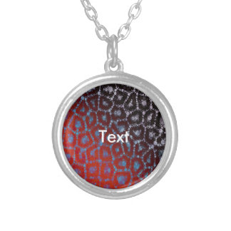 Psychedelic Cheetah Abstract Pattern Round Pendant Necklace
