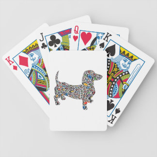 Psychedelic Cheetah Doxie Bicycle Playing Cards