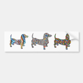 Psychedelic Cheetah Doxie Bumper Sticker