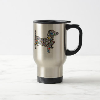 Psychedelic-Cheetah-Doxie Travel Mug