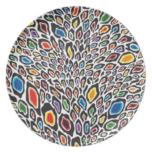 Psychedelic Cheetah Plates