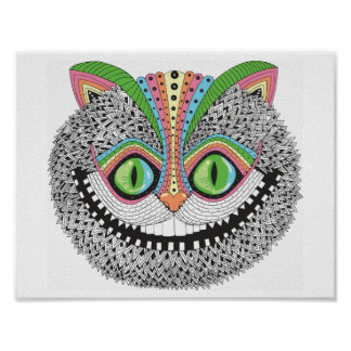 Psychedelic Cheshire Cat Poster