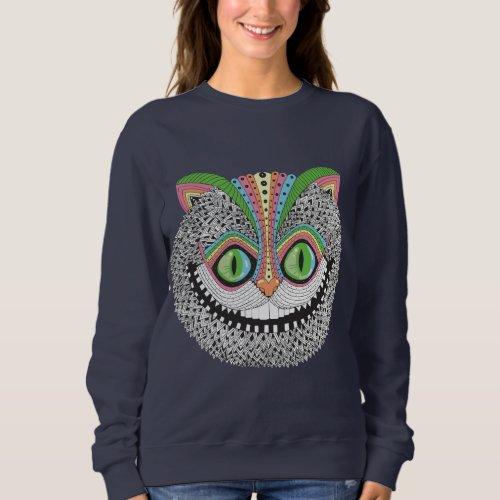 Psychedelic Cheshire Cat Sweatshirt
