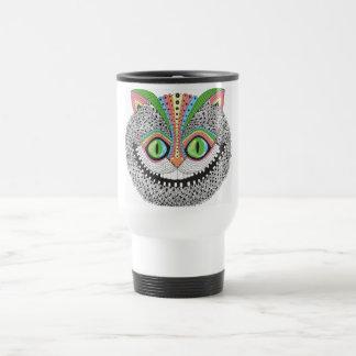 Psychedelic Cheshire Cat Travel Mug