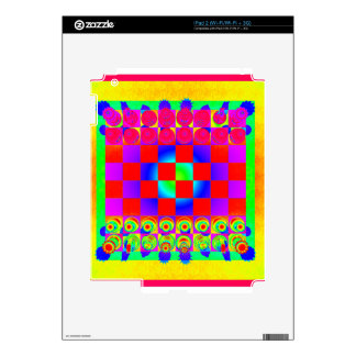 Psychedelic Chessboard and Chess Pieces iPad 2 Skin