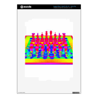 Psychedelic Chessboard and Chess Pieces iPad 3 Decal