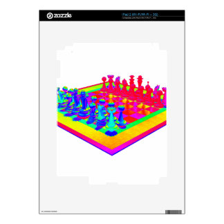 Psychedelic Chessboard and Chess Pieces Skin For iPad 2