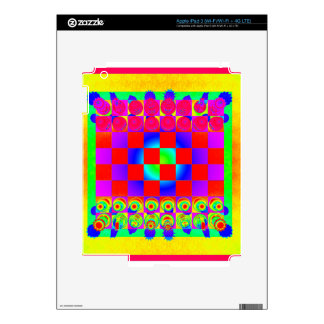 Psychedelic Chessboard and Chess Pieces Skins For iPad 3