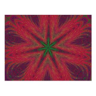 Psychedelic Christmas Kaleidoscope Postcard