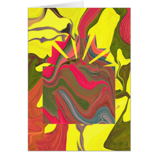 psychedelic christmas with funny message card