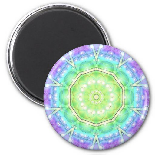 Psychedelic Circle 2 Inch Round Magnet