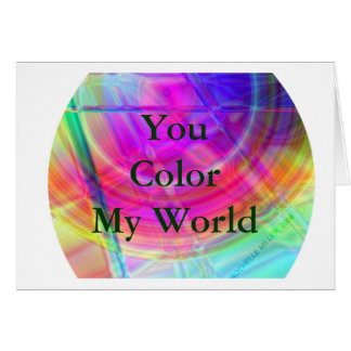 Psychedelic Circle Card