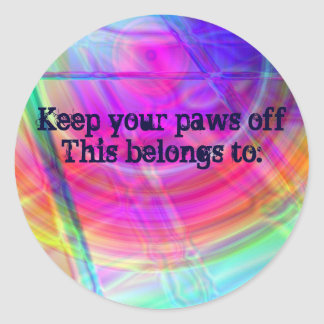 Psychedelic Circle Classic Round Sticker