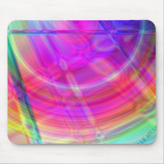 Psychedelic Circle Mouse Pad