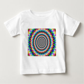 Psychedelic Circle Moving Illusion Dazzling Baby T-Shirt