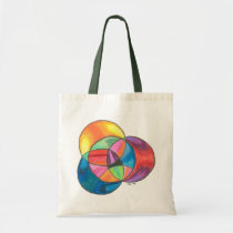 Psychedelic Circle Overlay Bag