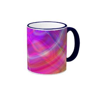 Psychedelic Circle Ringer Coffee Mug