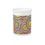 Psychedelic Circles Drink Pitcher