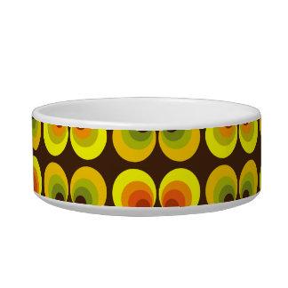 Psychedelic circles pet food bowl