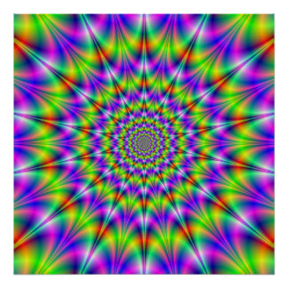 Psychedelic Circles Poster