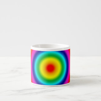 Psychedelic Circles Rainbow Pattern Espresso Cup