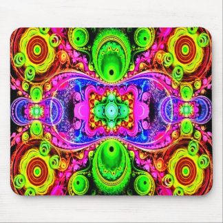 Psychedelic Circus Act Fractal Art Mouse Pad