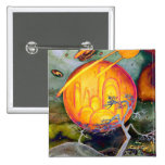Psychedelic City 2 Inch Square Button