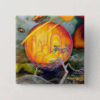 Psychedelic City Button