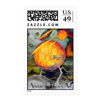 Psychedelic City Postage Stamps